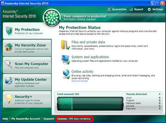 kaspersky internet security 2009 activation key