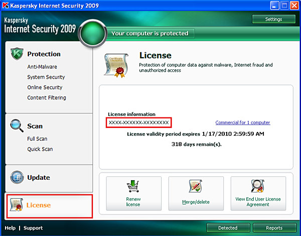 Kaspersky Internet Security 2009 / Kaspersky Anti-Virus 2009